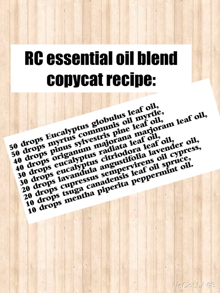 DIY copycat version of Young Living's RC essential oil blend.