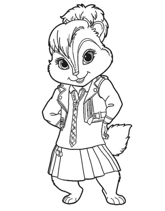 Alvin And The Chipmunks Brittany Coloring Pages In 2020 Cute Coloring Pages Coloring Pages Alvin And The Chipmunks
