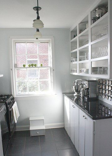 36 best images about galley kitchen on pinterest for Small galley kitchens with white cabinets
