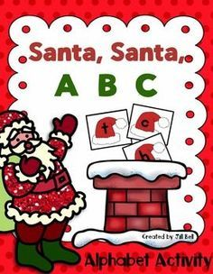 Free Christmas Alphabet centre. Students practice identifying the lowercase letters of the alphabet in this festive literacy center.