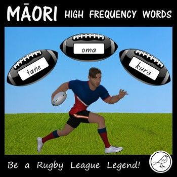 A fun, engaging activity for your students (particularly your boys) to practise reading 350 high frequency Māori words. The Activity: Place the rugby balls face down (in a pile or scattered). Each student has a 'Rugby League Score Sheet' in front of them.