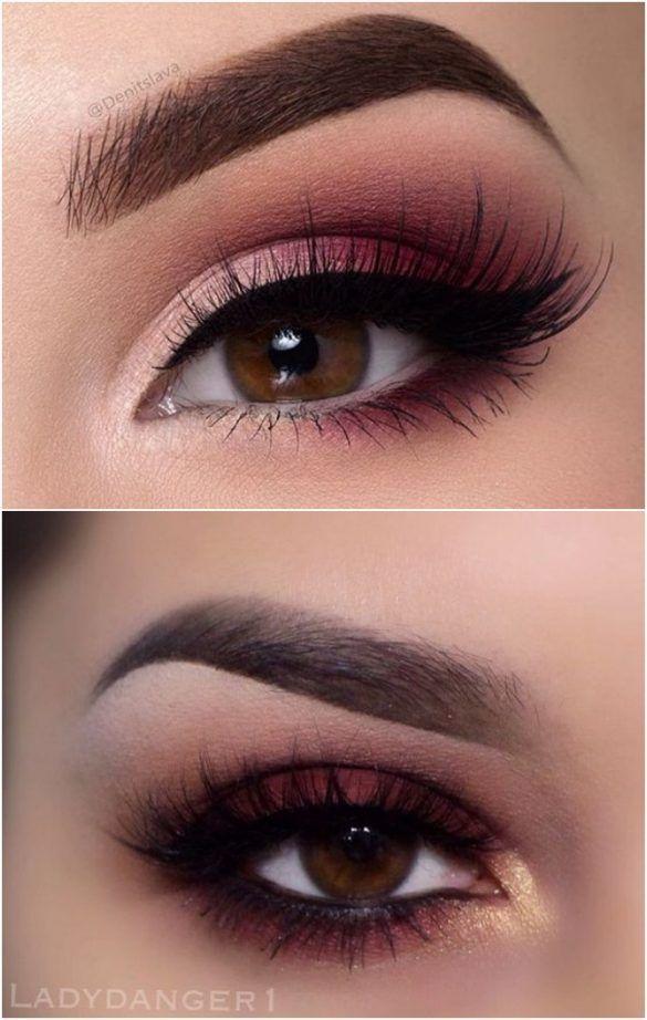 Eyebrows Eye Makeup Burgundy Brown Eyes Eyeliner Black Tan Lashes
