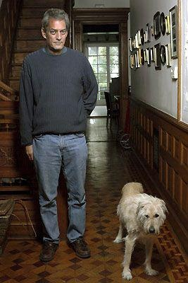 Paul Auster ... One man and his dog.