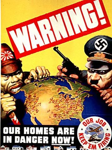 WARNING! Our Homes Are in Danger Now!--Our Job Keep 'Em Firing  General Motors Corporation  1942
