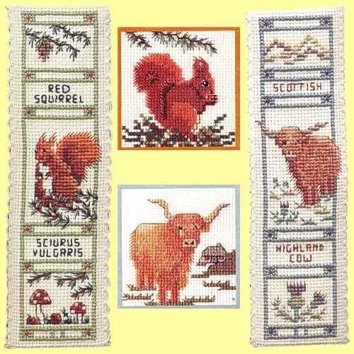 Clare's Celtic Cornucopia - British Animal Cross Stitch Kits Page 1