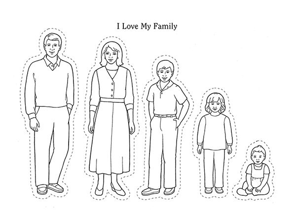 Image Result For Family Clipart Black And White Preschool Family Theme Family Coloring Pages Preschool Family