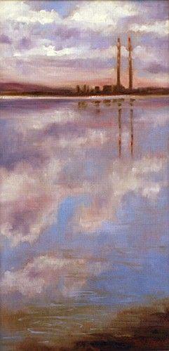 "#PoolbegSeries by #JaneMeyler Measurements: 51cm x 26cm (20"" x 10"") Medium: #OilOnCanvas, framed"