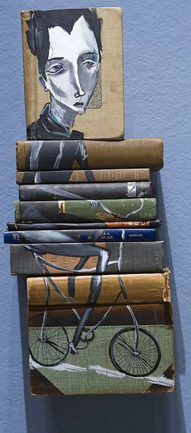 Made from Old Book Covers – Amazing Paintings by Mike Stilkey