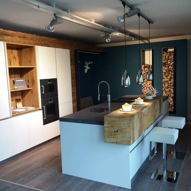 53 Besten Küche Bilder Auf Pinterest Wohnen, Moderne Küchen Und   Designer  Kuche Baumstamm Beton