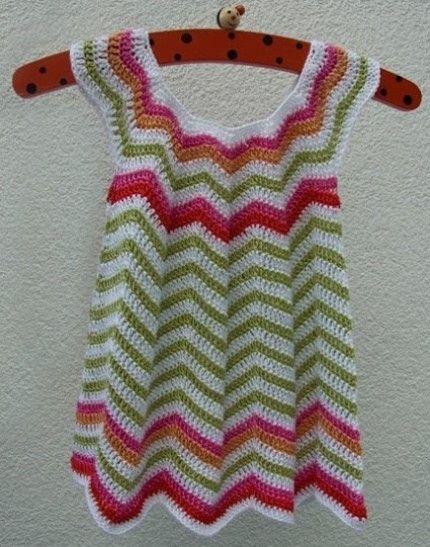 Crochet For Children: Little summer dress (Ripple)