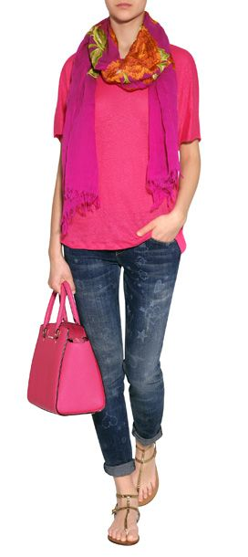 Pink Outfit with Jeans for Spring!