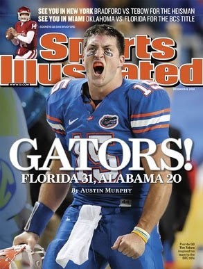 Tim Tebow on Sports Illistrated