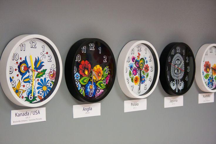 Zegar ścienny FOLK na baterię - kurpiowski
