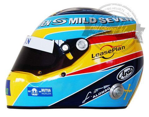 Fernando Alonso 2006 F1 Replica Helmet Scale 1:1
