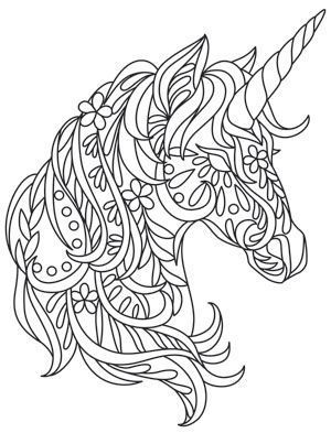 fun floral shapes add to the whimsy of this bohemian unicorn downloads as a pdf - Coloring Pages Unicorn
