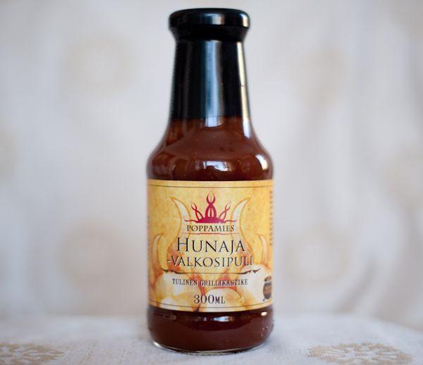 Poppamies Hunaja-Valkosipuli tulinen grillikastike 300ml