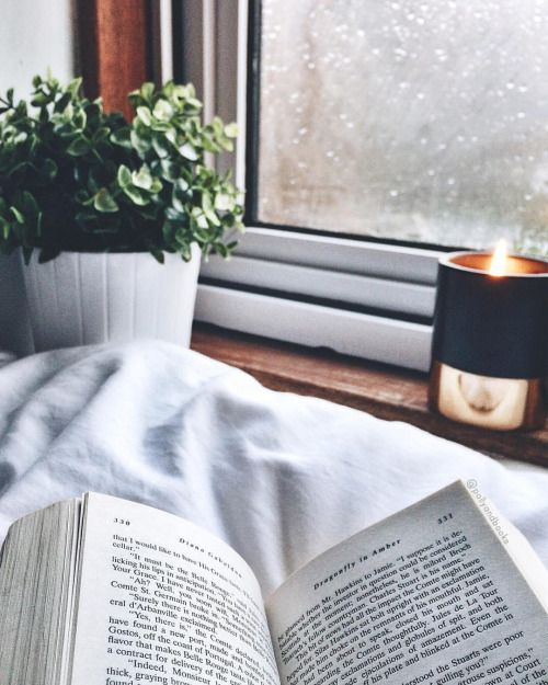 Book, candle and a rainy afternoon. Is there anything better?