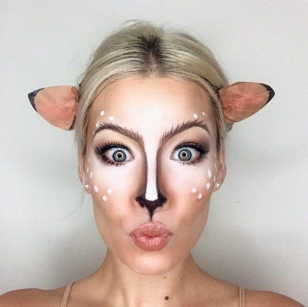 While Mean Girls may have labeled animal costumes as every girl's Halloween go-to, this bambi look is anything but basic.
