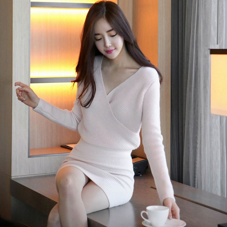 Cheap dress letter, Buy Quality dress bubble directly from China dress titanic Suppliers: Winter Women Office Bandage  Party Sexy Vintage Bodycon Pink Dress Vestidos fashion  V-Neck Mini Sweater Dresses  Plus Size