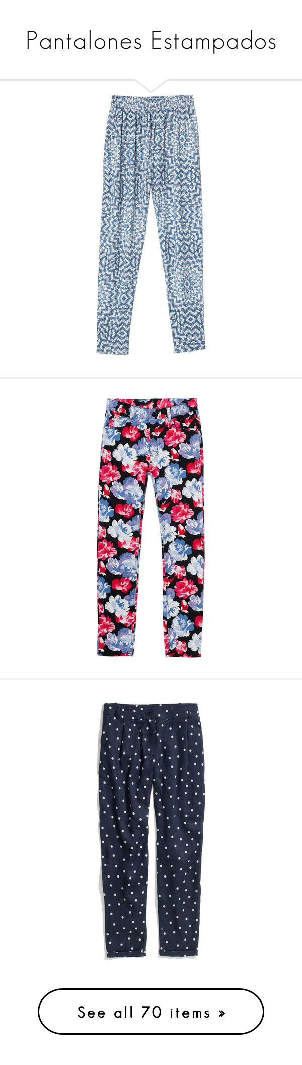 """""""Pantalones Estampados"""" by maitirodriguez ❤ liked on Polyvore featuring pants, bottoms, trousers, jeans, twistocean, pocket pants, loose fit pants, cocktail pants, stretch waist pants and monki"""