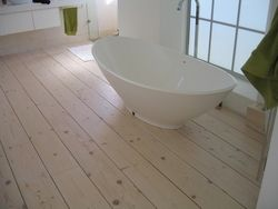 Solid Spruce - Lime-washed flooring