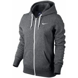 Nike Club Full Zip Ladies Hoody Charcoal