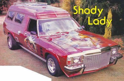 ◆ Visit MACHINE Shop Café... ◆ ~ Aussie Custom Cars & Bikes ~ (1974 HX Holden Custom Panel Van 'Shady Lady' with full height grille, which Steve Ellis's XX308 Custom Panel Van first created)