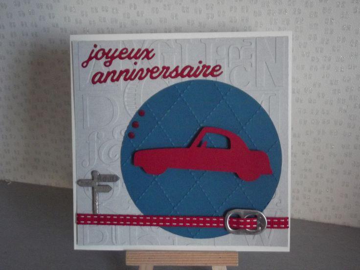 """Carte d'anniversaire""""Voiture ancienne"""" invitation,départ en retraite invitation,bon rétablissement,remerciement à personnaliser selon votre envie : Cartes par coco-et-ses-creations"""