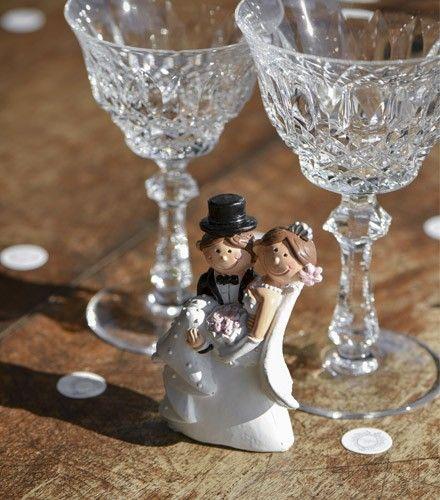 Figurine originale Mr & Mrs jeunes mariés