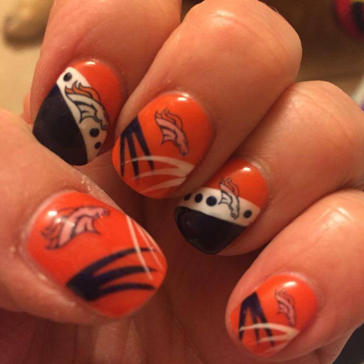48 best Broncos Nail Design images on Pinterest   Denver ...