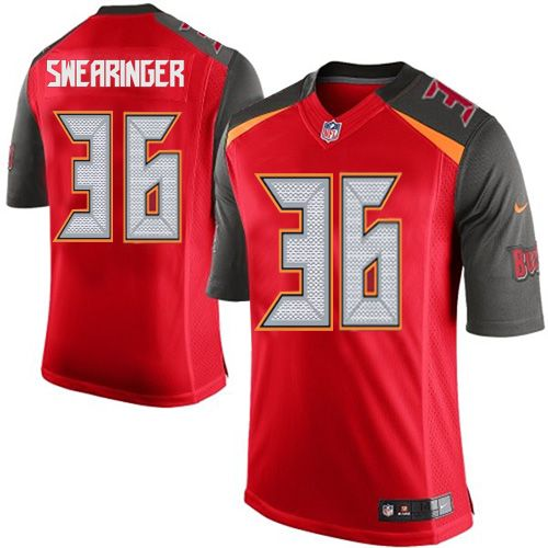 d.j. swearinger mens limited red jersey nike nfl tampa bay buccaneers home 36