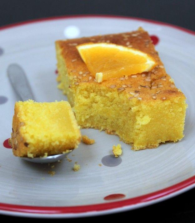 gâteau orange huile d'olive - Torchons et serviettes