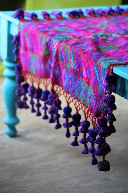 TatiTati Style ✿ Vintage Guatemalan zute with tassels ♡ teaspoonheaven.com