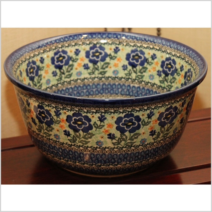 Hand-painted Polish pottery.