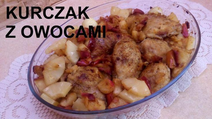 Kurczak z owocami / Ślązaczka Halinka /