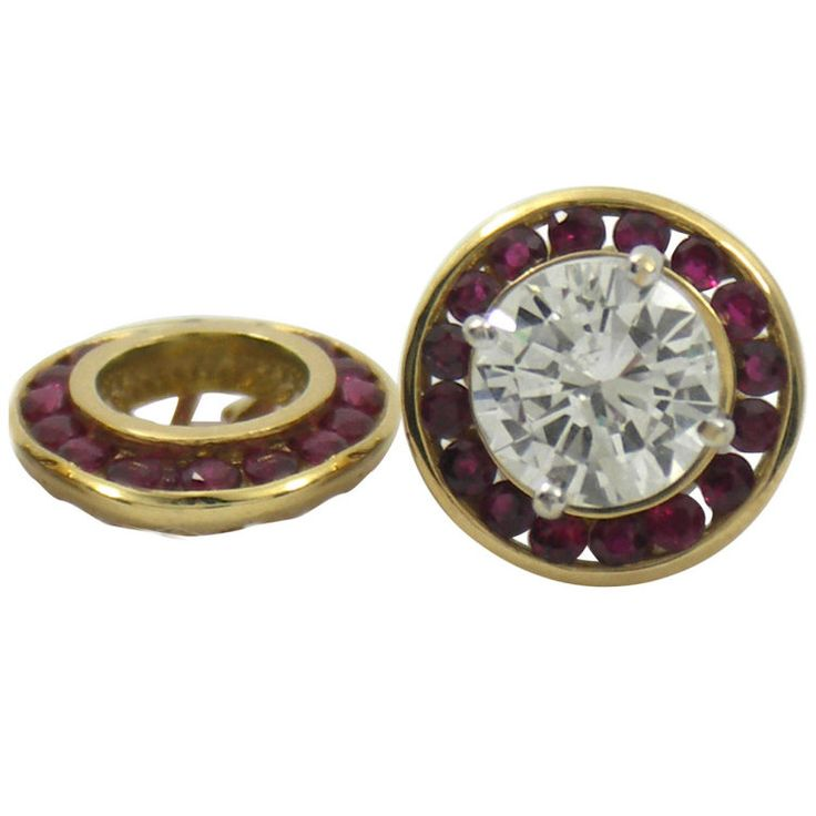 Benchmark of Palm Beach Ruby Earring Jackets for 1 Carat Diamond Studs $1,200