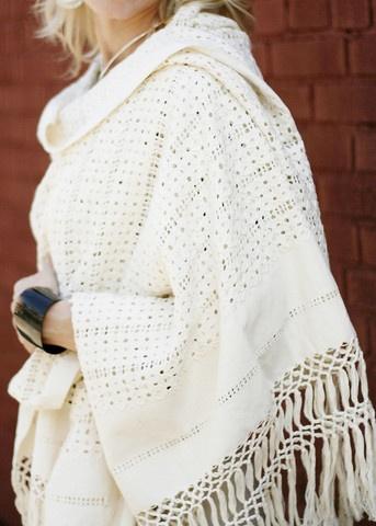 Rebozo Deshilado Entero- Patzquaro Cotton Shawl