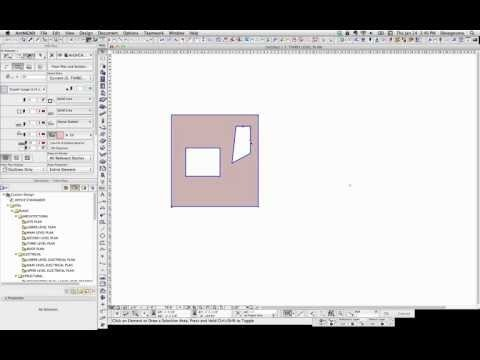 ArchiCAD Tip #14: Cutting a hole in a 2D Morph