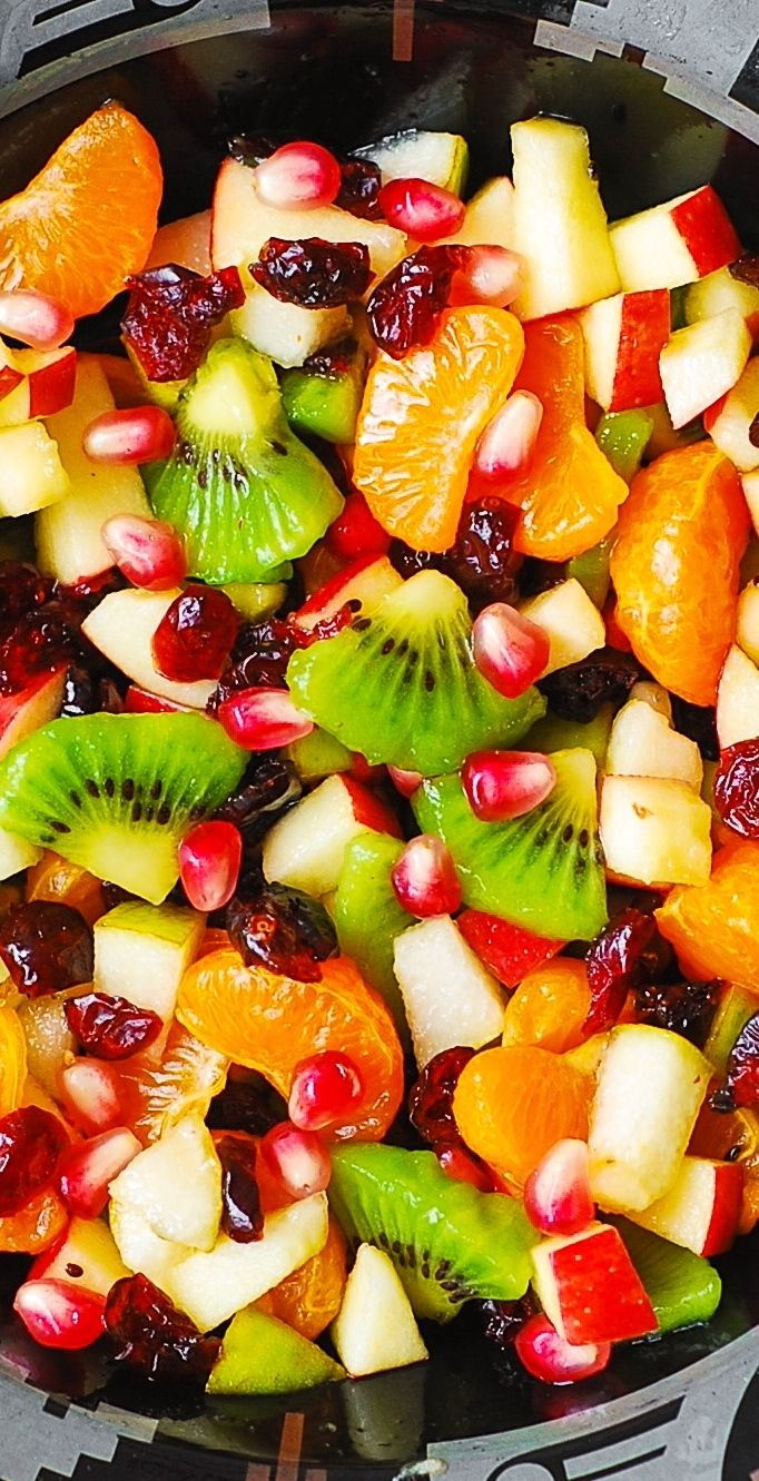 Winter Fruit Salad with Maple-Lime Dressing - healthy, gluten free salad!