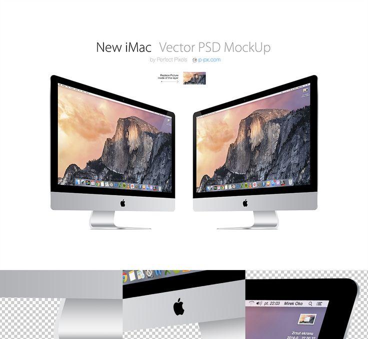 New Imac 3 4 Views Vector Psd Mockup Free Mockup Templates Mockup Template Free Free Mockup