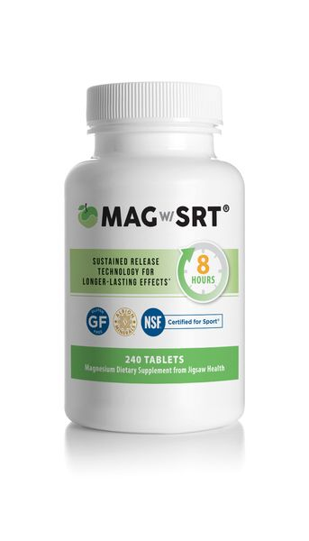 Magnesium supplements using Sustained Release Technology steadily releases magnesium to ensure availability of magnesium throughout the day. This allows you to replenish a magnesium deficiency without the laxative effect common to most other magnesium supplements. Jigsaw Magnesium w/SRTª helps maintain total body health by restoring and maintaining the level of magnesium in your body. Potent and bioavialable, requiring fewer tablets than other magnesium products.