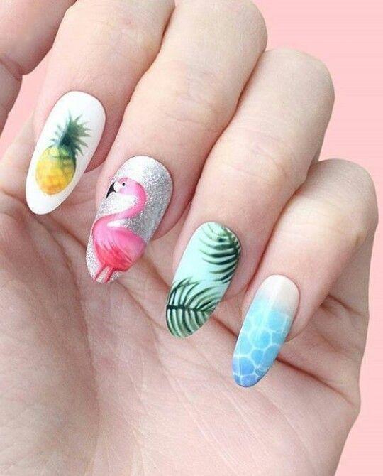 Flamingo nagel stempelsjabloon zomer Fruit blad Nail Art stempel plaat – OSTTY