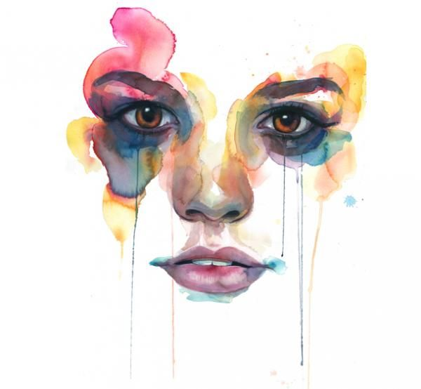 Marion Bolognesi-- coolest thing everFace, Marion Bolognesi, Inspiration, Illustration, Beautiful, Art, Water Colors, Marionbolognesi, Watercolors Painting