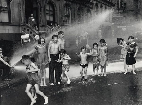 Summer, The Lower East Side, 1937 by Arthur Felig, aka Weegee  #Summer #Photography #Kids #Arthur_Felig