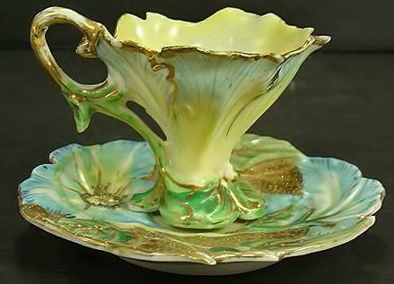 "danismm:  "" Nippon Art Nouveau demitasse cup and saucer, a fine teacup  """