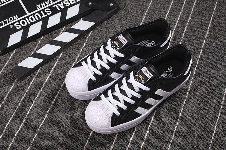 chaussure adidas superstar rize s77601 femme noir blanc