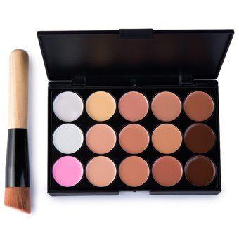 Belanja 15 Colors Makeup Concealer Palette + A Makeup Brus Contour Face Cream Indonesia Murah - Belanja Kuas & Aplikator di Lazada. FREE ONGKIR & Bisa COD.