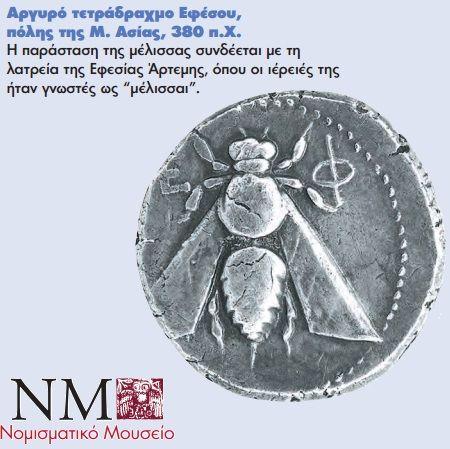 Μέλισσα σε νόμισμα