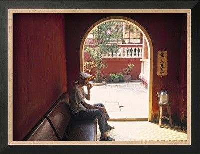 'Chinese Temple, Ho Chi Minh City, Vietnam' by Peter Adams Framed Photographic Print