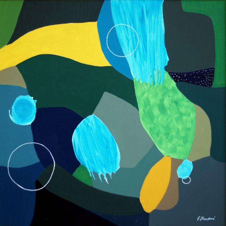 """Come in"" by Pavla Hroudová, oil on canvas, 50x50cm"